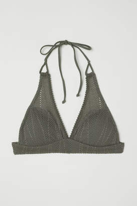 H&M Triangle Bikini Top - Green