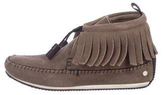 Rag & Bone Fringe Wedge Moccasins