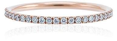 rose gold thread band P-D ring