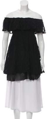 Jean Paul Gaultier Soleil Patterned Short Sleeve Top