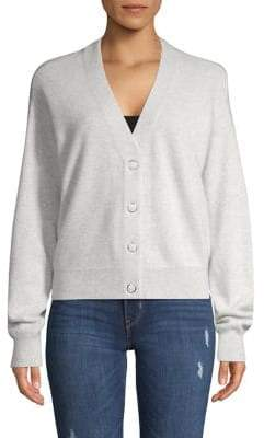 Lord & Taylor Heathered Cashmere Cardigan