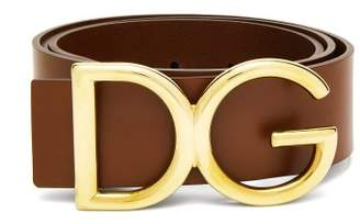 Dolce & Gabbana Buckle Leather Belt - Mens - Brown