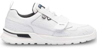 Prada crepe-effect sneakers