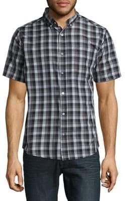 Howe Checked Cutton Casual Button-Down Shirt