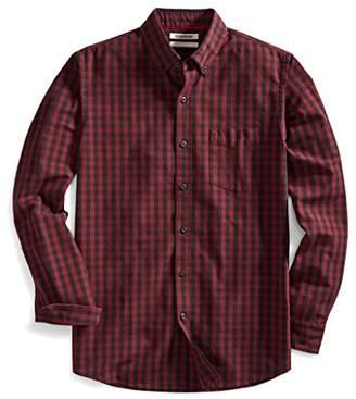 Goodthreads Men's Slim-Fit Long-Sleeve Two-Color Gingham Slub Shirt