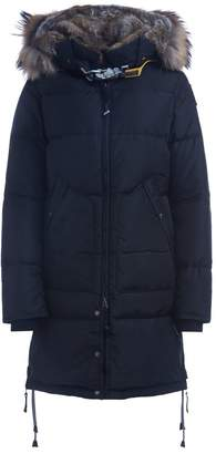 Parajumpers Parajumper Long Bear Black Down Jacket With Fur Trimmed Hood
