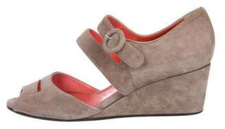 Aquatalia Suede Wedge Sandals