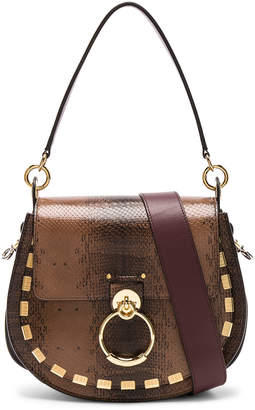 Chloé Medium Tess Printed Watersnake Shoulder Bag