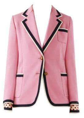 Gucci Cady Striped Trim Blazer