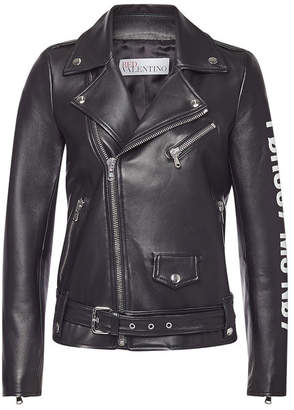 RED Valentino Leather Biker Jacket