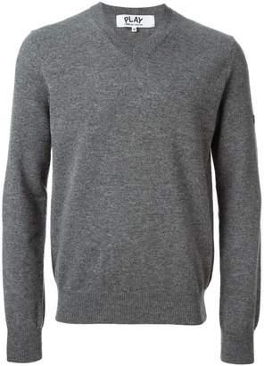 Comme des Garcons mini heart v-neck sweater