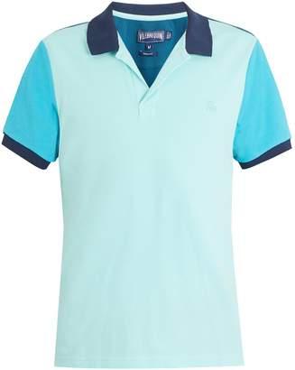 Vilebrequin Logo-embroidered contrast cotton-piqué polo shirt