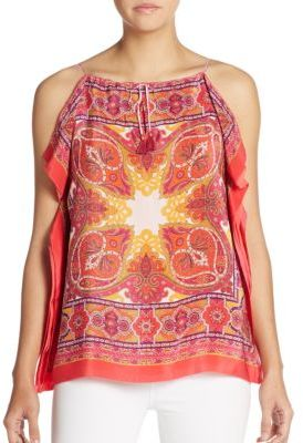 Ona Silk Paisley Flutter-Side Top $248 thestylecure.com