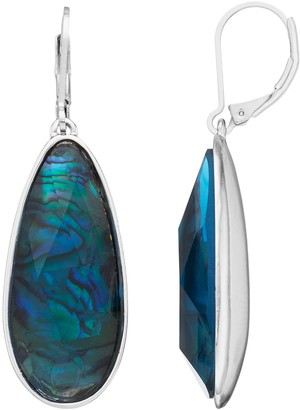 Dana Buchman Simulated Abalone Teardrop Earrings
