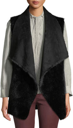 Love Token Ultra Faux-Suede Faux-Fur Lined Vest