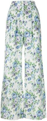 Zimmermann floral print flared trousers