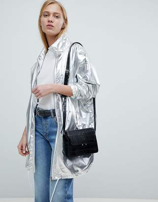 Dr. Denim Metallic Zip Through Jacket