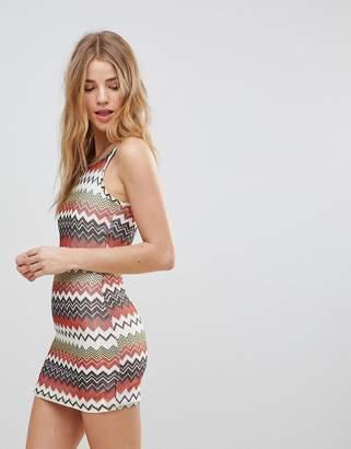 Glamorous Striped Knit Dress
