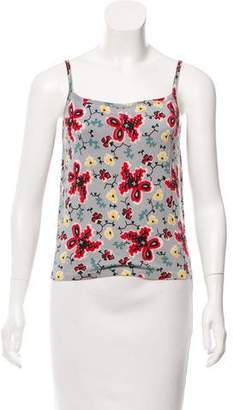John Galliano Printed Knit Top