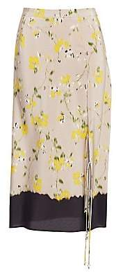 Altuzarra Women's Felice Floral Silk Skirt