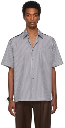 Alexander McQueen Black and White Jersey Back Shirt