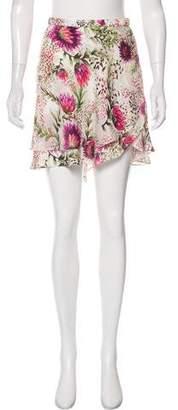 Haute Hippie Silk Printed Skirt