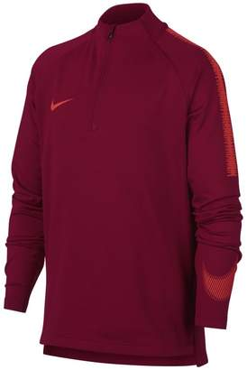 Nike Dri-FIT Squad Drill Older Kids'(Boys') Long-Sleeve Football Top