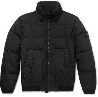 Stone Island Slim-Fit Garment-Dyed Quilted Nylon Down Jacket