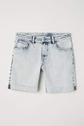 H&M Skinny Denim Shorts - Blue