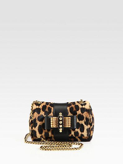 Christian Louboutin Sweet Charity Leopard Calf Hair Mini Shoulder Bag
