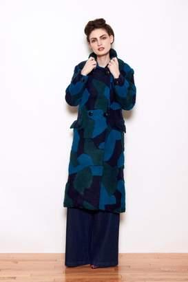 Kurt Lyle Veronica 3-D Wool Coat
