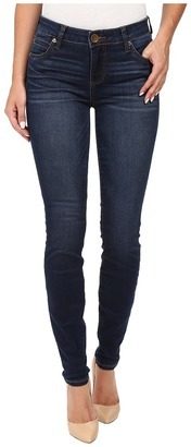 KUT from the Kloth - Mia Toothpick Five-Pocket Skinny Jeans in Awareness w/ Medium Base Wash Women's Jeans $89 thestylecure.com