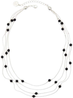 Liz Claiborne 4-Strand Black Bead Necklace
