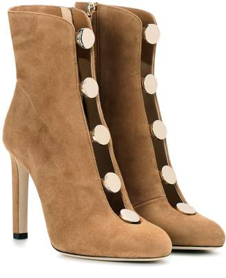 Jimmy Choo Loretta 100 suede ankle boots