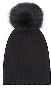 Saks Fifth Avenue Women's COLLECTION Fox Fur Pom Pom Cashmere Beanie
