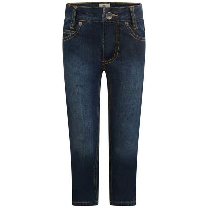 TimberlandBoys Blue Stone Washed Regular Slim Fit Jeans