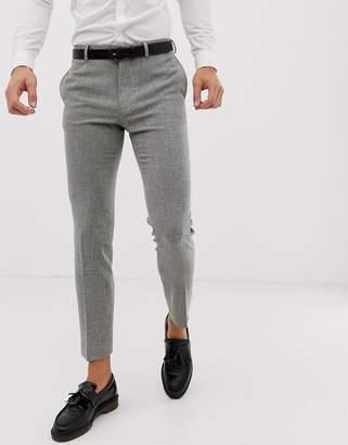 Hatch ASOS DESIGN wedding skinny suit pants in gray cross