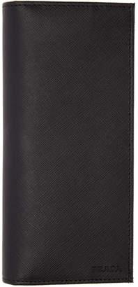 Prada Black Saffiano Long Wallet