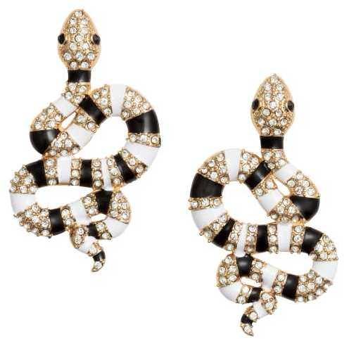 H&M - Snake-shaped Earrings - Gold-colored - Ladies