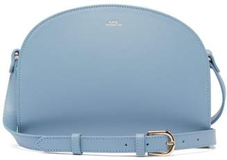 A.P.C. Half Moon Leather Cross Body Bag - Womens - Light Blue