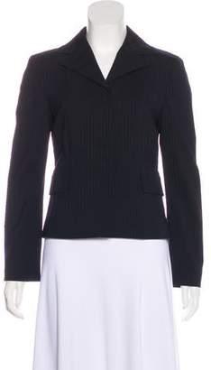 Alberta Ferretti Wool Pinstriped Blazer