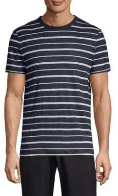 Theory Stripe Linen T-Shirt