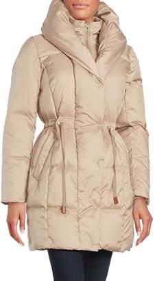 Cole Haan Women's Puffed Shawl-Collar Down Puffer Coat