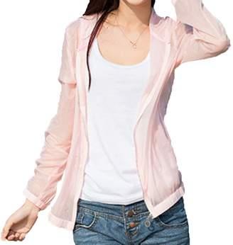 ZEAMO Women's Loose Anti-UV Sun Protection Quick Dry Beach Coats Jackets