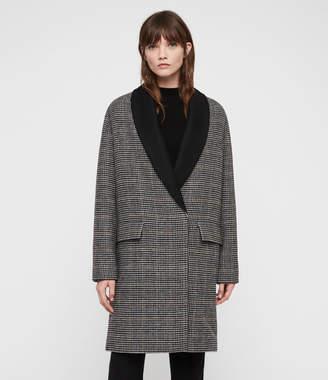 AllSaints Paige Check Coat