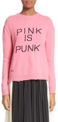 Valentino Pink Is Punk Wool & Cashmere Sweater