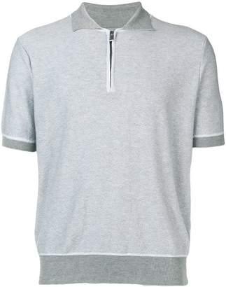 Canali contrast trim polo shirt
