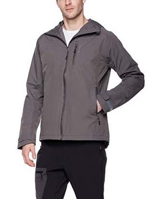 5Oaks Men's Rain Jacket Hooded Waterproof Coat XXL