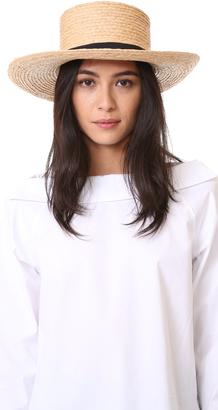 Hat Attack Raffia Braid Boater Hat $95 thestylecure.com