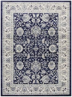 Bastien Boundary Oriental Rug, Navy 160 x 220cm